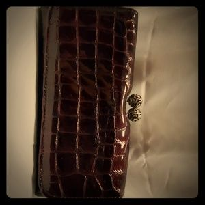Beautiful Burgundy Patent Leather Brighton Wallet